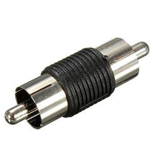 PhilMat Mâle à mâle phono rca coupleur av adaptateur audio connecteur nickel