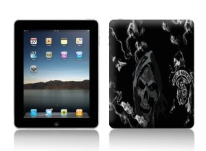 Luxburg® Design skin de protection sticker film autocollant pour Apple iPad 4, 3 & 2, motif: Crâne noir