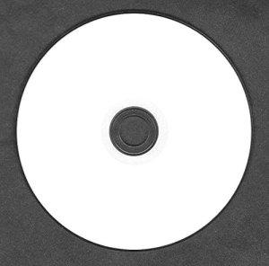 1x vierges CD-R imprimables Jet d'encre Blanc Full Face (52x 80min 700MB) CD audio