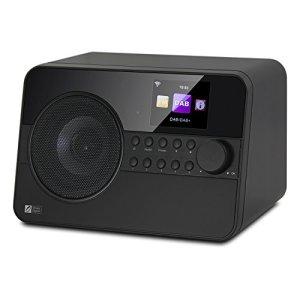 Ocean Digital WR238CD Internet Radio avec DAB / DAB + / Bluetooth FM Radio couleur affichage avec télécommande – Noir