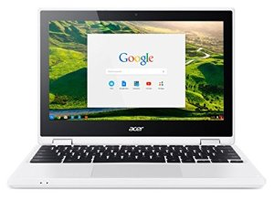 Acer Chromebook CB5-132T-C8VM Ordinateur 2-en-1 Tactile 11″ Blanc (Intel Celeron, 4 Go de RAM, Mémoire 32 Go, Intel HD Graphics, Chrome OS)