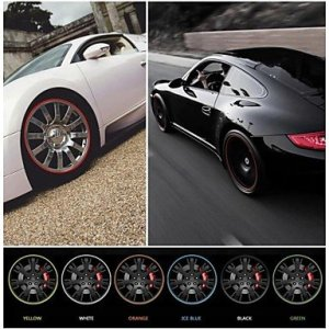 nouvelle vignette de la jante de roue de voiture de style anneau de protection universelle pour plaque tournante de l'automobile 22 » de la , red #-5100
