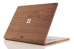 Toast Msb2–15-win-01+ Bot Real Wood, Noyer Coque pour Microsoft Surface Book 2avec Logo Windows Découpe, 38,1cm