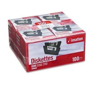 Imation produits–Imation–disquettes 8,9cm, Ibm-formatted, DS/HD, 100/Lot–Vendu comme 1Lot–Rentable.–Couple d'entraînement réduit Diskette Drive Wear.–antistatique Motif.–Formaté. –