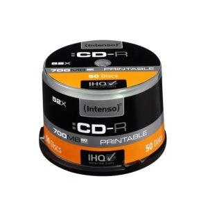 INTENSO CD-R printable 700MB/80min 52x Speed – 50pcs Cake Box