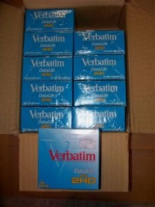 Verbatim 86269DataLife 8,9cm 2HD Floppy Disques Master Coque (10boites DE 10)