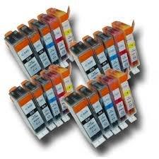 20 Nouvelle Version Premium Qualité Haute Capacité 100% Compatible cartouches d'encre pour Canon Multipack PGI-520 CLI-521 Pixma IP3600 IP4600 IP4700 MP540 MP550 MP560 MP620 MP630 MP640 MP980 MP990 MX860 MX870 Compatibles avec PGI-520bk CLI-521bk (4 Grande Noir+4 Petite Noir+4 Cyan+4 Magenta+4 Jaune) de TruImage