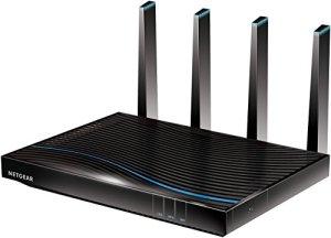 Netgear R7800–100UKS Routeur WiFi Intelligent Nighthawk X4S dédié aux Jeux en Ligne (800+ 1733Mbit/s) Quad Stream Gigabit 11AC Fastest (AC5300 Mbps)