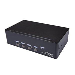StarTech.com Switch KVM Double Affichage DisplayPort 4K 60 Hz à 4 Ports avec hub USB 2.0 intégré
