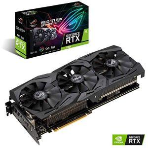 ASUS ROG -STRIX-RTX2060-O6G-GAMING GeForce RTX 2060 6 Go GDDR6 – Cartes Graphiques (GeForce RTX 2060, 6 Go, GDDR6, 192 bit, 14000 MHz, 7680 x 4320 Pixels)