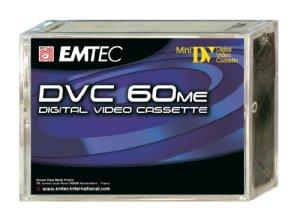 EMTEC Cassette vierge Mini-DV 60 min, 5 pièces en pack