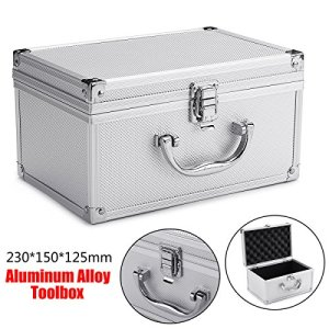 Generic Ponge Organizerorage C Tool Box Camera Photographie de Stockage en Aluminium Éponge Coque Instrument Organiseur Camera Photographie Stora