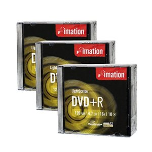 Imation 16x DVD + R LightScribe Printable Supports vierges, 4.7Go/120min–Lot de 30