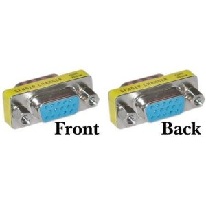 NiceButy DB 15HD/DB/15KVM VGA/SVGA Adaptateur femelle vers femelle (F-F)–lot de 2