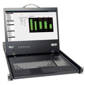 Tripp Lite B070-008-19 NetCommander B070-008-19 Console KVM avec Commutateur KVM 8 ports PS/2 19″ montage en rack 1280 x 1024 VGA Noir 1U