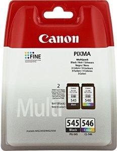 2 Cartouche d'encre pour Imprimante Canon Pixma MG2550 – Cyan / Jaune / Magenta / Noir- Avec Puce