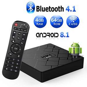 Android 8.1 TV Box [4GB RAM+64GB ROM] Boîtier TV [2019 Dernière Version] Livebox Android 8.1 Smart TV, Dual-WiFi 2.4G/5G/avec HD/H.265 / 4K / 3D / BT4.1