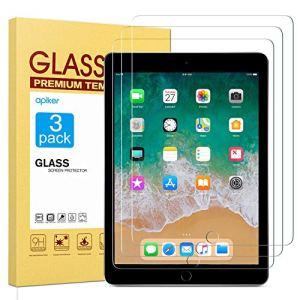 apiker Lot de 3 Verre Trempé Compatible pour iPad 9,7 Pouces (modèle 2018 et 2017), iPad Air 2 et iPad Air, Durabilité Exceptionnelle, Protection écran pour iPad 9,7 Pouces, iPad Air 2 et iPad Air