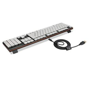 Bescita6 Clavier de Gaming avec 104 Touches USB RVB rétro-éclairé mécanique et Clavier de Jeu Ultra Fin avec Medium Weiß