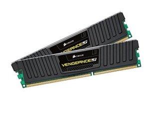 Corsair CML16GX3M2A1600C9 Vengeance LP 16GB (2x8GB) DDR3 1600 Mhz CL9 Mémoire pour ordinateur de bureau performante avec profil XMP. Noir