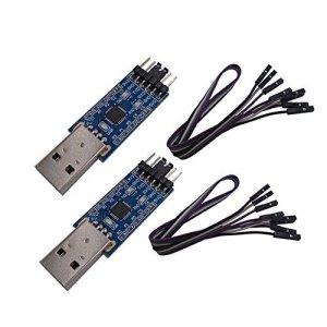 DSD TECH 2PCS USB à TTL adaptateur série avec puce CP2102 Compatible avec Windows 7,8,10, Linux, Mac OS X