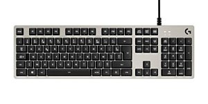 Logitech G413 Clavier gaming mécanique Romer-G avec port USB (Silver) – Azerty Layout