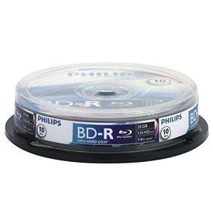 Philips BE2S2B10F/00 Pack de 10 flans CD-RW 25 Go
