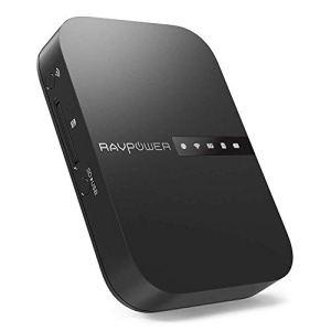 RAVPower Filehub Routeur Portable Voyage sans Fil AC750 Routeur WiFi 5GHz, Sauvegarde et Transmission de Données sur Carte SD HDD, Bande 5GHz et 2.4GHz, Batterie Externe 6700mAh, Cloud Personnel