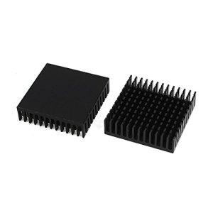 REFURBISHHOUSE 2 x pcs Noir Aluminium Refroidisseur radiateur dissipateur 40 x 40 x 11mm