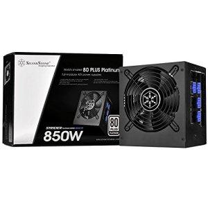 SilverStone SST-ST85F-PT – Série Strider Platinum, 850W 80 Plus Platine ATX Alimentation PC, bruit réduit, 120mm, Câblage 100% modulaire