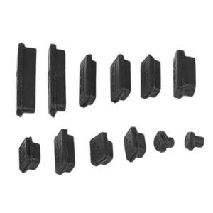 Vige 12 pcs/Set Professionnel Silicone Anti-Poussière Plug Cover Stopper Ordinateur Portable Antipoussière USB Dust Plug Cover Set Convient pour Macbook