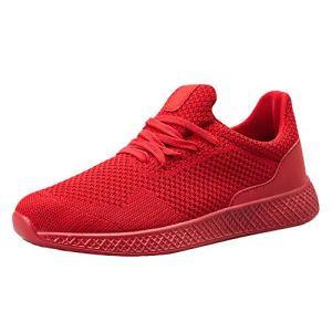 Chaussures de Fitness Homme, Manadlian Baskets Basses de Respirant Couleur Unie Mode Sneakers Sport Shoes