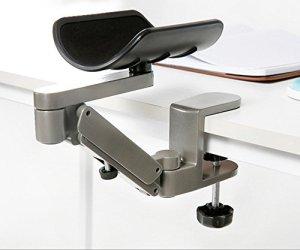 DUVERT Support d'avant Bras articulé Ergonomique en Aluminium/Arm Design Ergonomique articulé Computer | Computer Desk Support