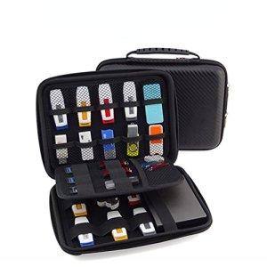 FunYoung Clé USB Organizer sac de rangement Case Organizer pour USB Sticks SD accessoires pour cartes mémoire collection