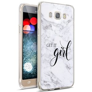 JAWSEU Coque Galaxy J5 2016,Étui Galaxy J5 2016,Galaxy J5 2016 Case, Silicone TPU Coque Mode Mignonne Lovely Motif Ultra Mince Flexible Souple Silicone Case Coque pour Galaxy J5 2016-*3