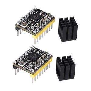 KINGPRINT TMC2130 V1.1 Moteur pas à pas StepStick Mute Silent Driver Support SPI avec radiateur pour carte de commande d'imprimante 3D 3D Pack de 2