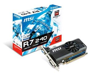 MSI R7 240 1GD3 64b LP Carte Graphique Nvidia PCI Express