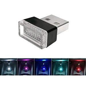 omufipw Mini Voiture sans Fil USB éclairage intérieur de Voiture lumières atmosphère USB lumière Universelle LED