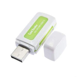 Protable USB 2.0 Lecteur de Carte Multi mémoire 4 en 1 pour M2 pour SD pour SDHC DV Micro pour Secure Digital Card TF Card Vert