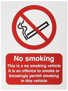 signslab ph05104s Panneau de sécurité»No Smoking CE est un véhicule, autocollant, 100mm x 75mm
