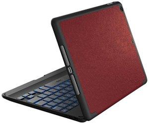 Zagg Folio Coque à charnière avec Clavier Bluetooth rétro-éclairé pour iPad Air 2 iPad Air Red