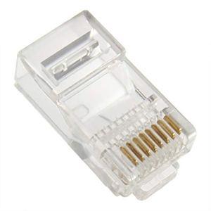 3 PCS Solid ou Stranded Wire Câble Solide ou toronné RJ45 CAT5 Crystal Modulaire Plug LAN Connecteur de réseau Transparent