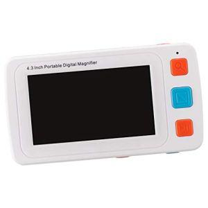 D DOLITY Loupe de Lecture Portable Écran DE 4,3 Pouces avec Éclairage LED en Plastique