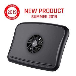 KLIM™ Comfort + Refroidisseur PC Portable + Protégez-Vous et Votre PC de la surchauffe + Nouveauté 2019 + Support Ventilé 10″ – 15.6″ Très Confortable et Discret + Stable + Ventilateur Silencieux