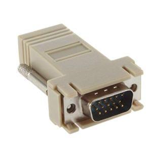 Noradtjcca VGA Extender Male to LAN CAT5 CAT5e CAT6 RJ45 Câble de réseau Adaptateur Femelle Adaptateur de câble de réseau