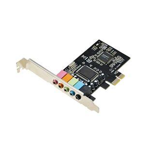 ADWITS Carte Son stéréo 3D PCIe avec Puce Audio CMedia CMI8738, Carte Son Interne PCI Express 1x à 5.1CH pour Windows XP Vista 7/8/10/2000, Noir