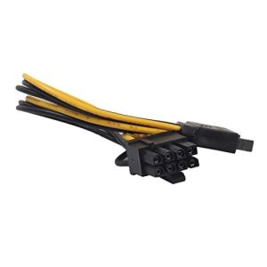 Câble Adaptateur Secteur Professionnel SATA 8 Broches (6 + 2) à 15 Broches Câble d'alimentation vidéo SATA PCI-E pour Disque Dur à Carte Graphique ToGames-FR