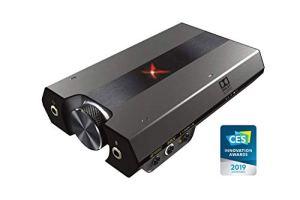 HWZDQLK DAC de Jeu Haute résolution 130dB 32 Bits / 384 kHz, Carte Son USB Externe, Dolby Digital, Son ambiophonique virtuel 7.1, Commande de Haut-Parleur latéral/Haut-Parleur for PS4, Xbox One, Nin