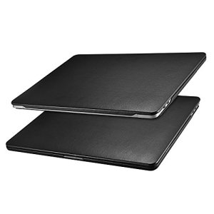 ICARER Coque MacBook Pro 13, Étui Housse en Cuir [Ultra Mince Série] Protection Case Cover pour MacBook Pro 13 Retina Display Model: A1706/A1708/A1989 2016&2017&2018 (Noir)