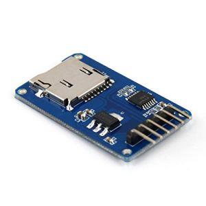 WEIWEITOE Carte mémoire sécurisée numérique Module de Blindage de mémoire de Carte TF Carte d'extension de Stockage Micro-SD SPI pour Module Arduino, Bleu,